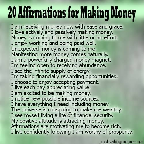 25 Money Affirmations for Attracting Wealth and Abundance | The ...