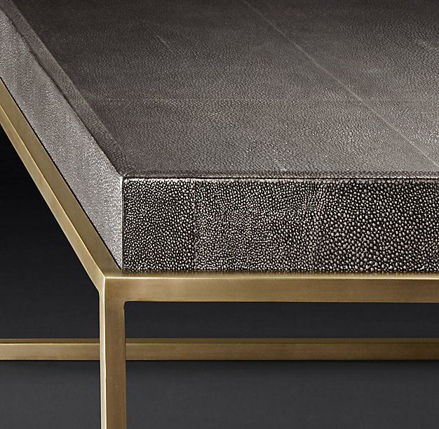 RH Modernu0027s Hudson Shagreen Tray Square Coffee Table:Designed By Anthony  Cox, Our Tableu0027s