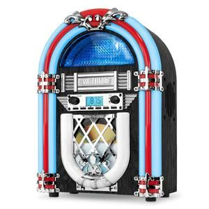 Bluetooth//CD Jukebox with LED Neon Lights Pink