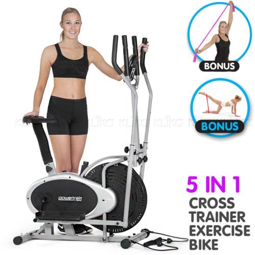 Details About New Powertrain 3in1 Elliptical Cross Trainer