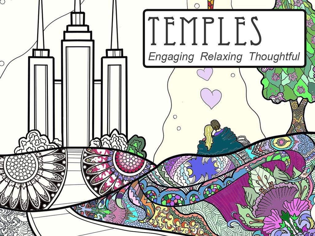 A coloring book for adults based on LDS Temples project video ...
