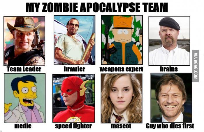 My Zombie Apocalypse Team Zombie Apocalypse Team Zombie Apocalypse Apocalypse