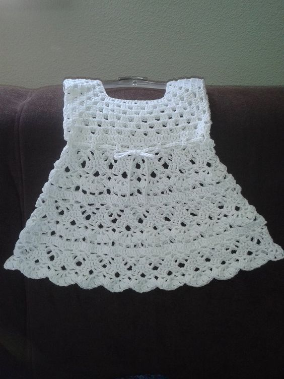 Simple Crochet Very Elegant Dress With Step By Step Pattern