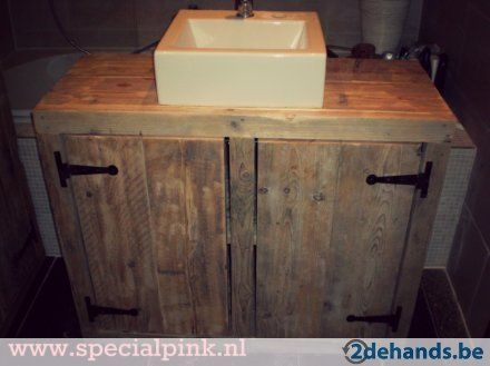 Badkamermeubel Frank van steigerhout.