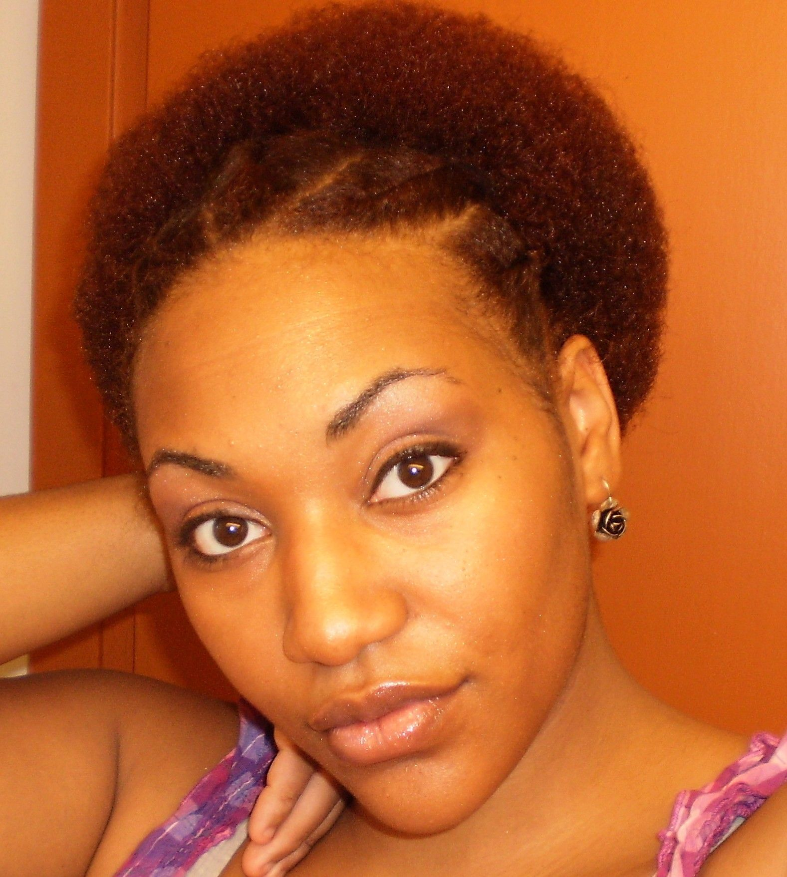 Flat Twists In Front And A Puff In The Back Love It Naturalhair