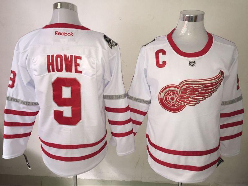 b1e66b78b Hockey Jersey Men s Detroit Red Wings  9 Gordie Howe Reebok Red ...