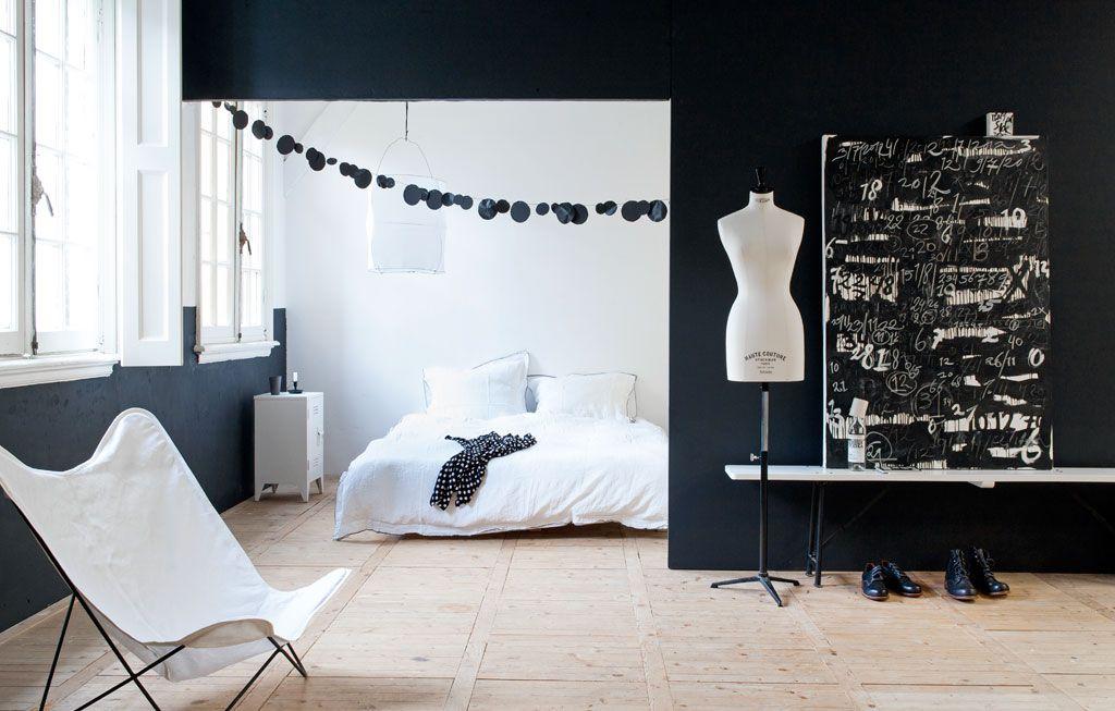 zwart-wit slaapkamer | nordic • scandinavian interiors | Pinterest ...