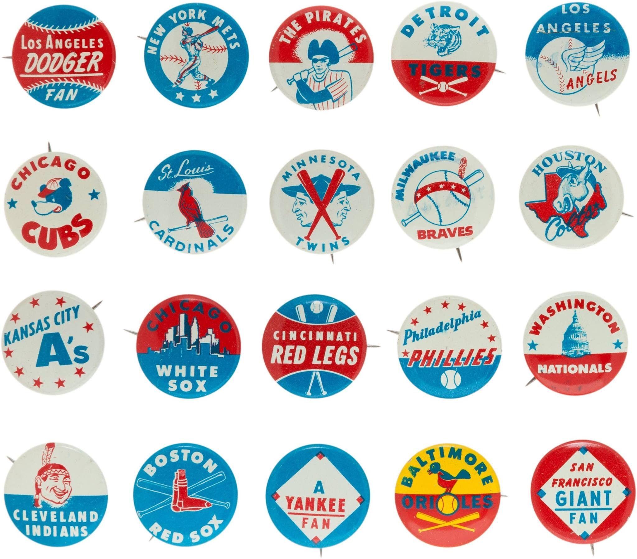 Vintage Mlb Pins Baseball Posters Art Logo Logo Illustration