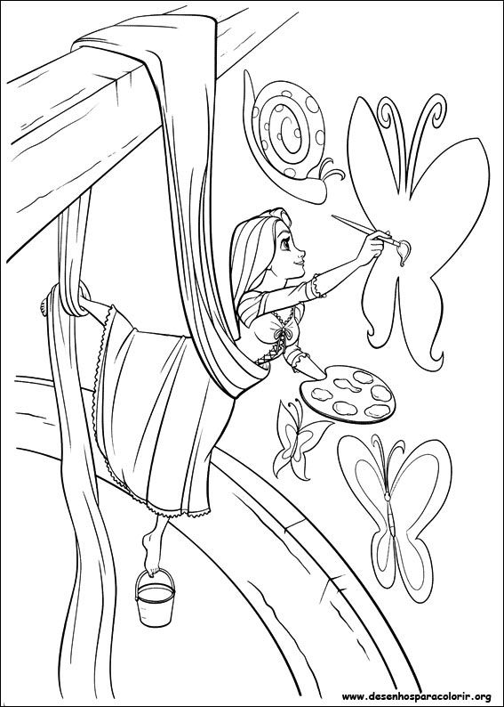 Desenho Para Imprimir Color Books Rapunzel Coloring Pages