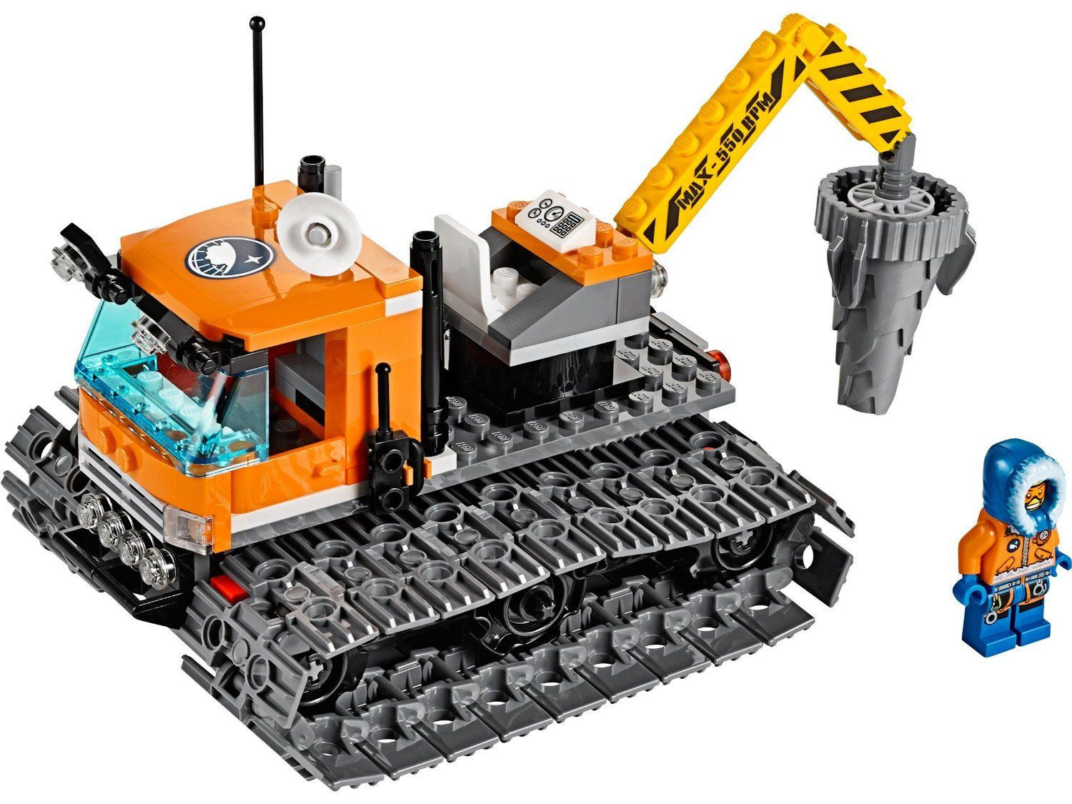Pin lego 60032 city the lego summer wave in official images on - Lego City 60036 Arctic Base Camp Tracked Exploration Vehicle Features Massive Tracks Huge