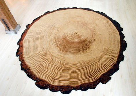 Wood are rug?! It beats having this giant cross section of a redwood in the middle of my apartment.