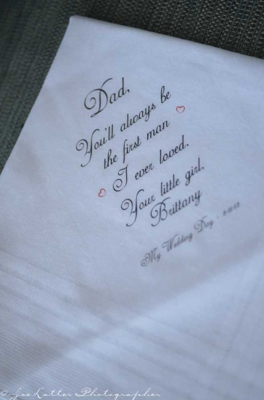 embroidered wedding tissue for dad gifts pinterest wedding