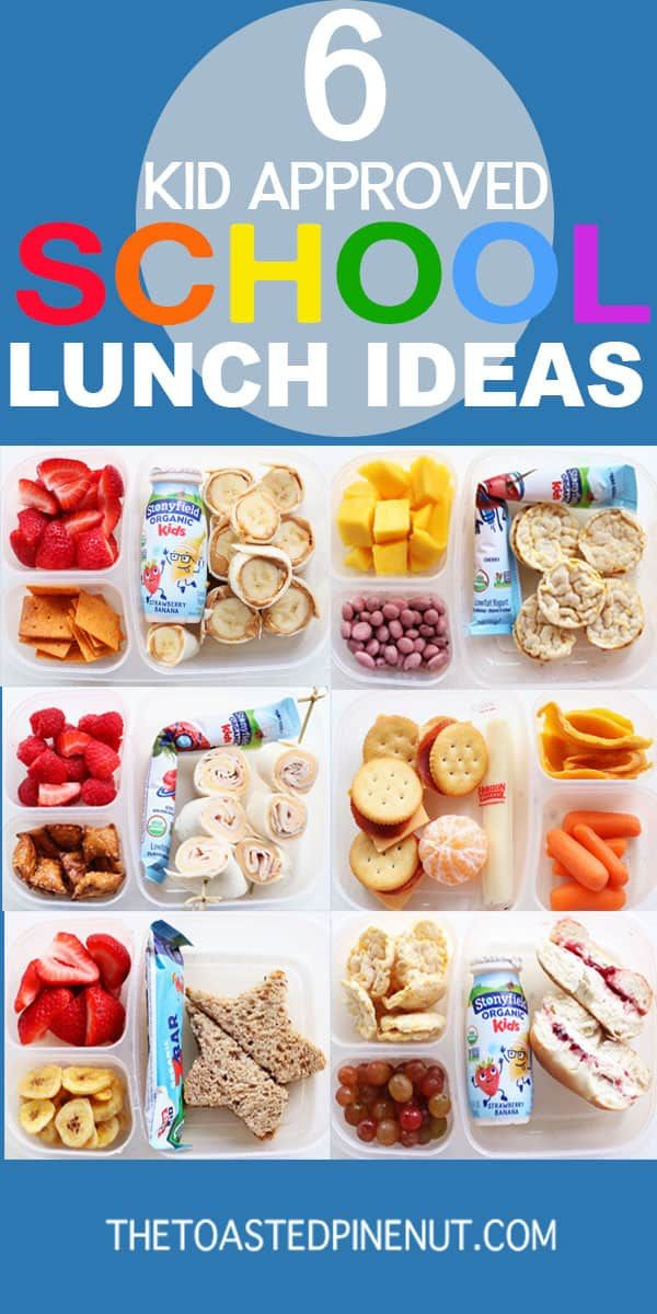 Six School Lunchbox Ideas images