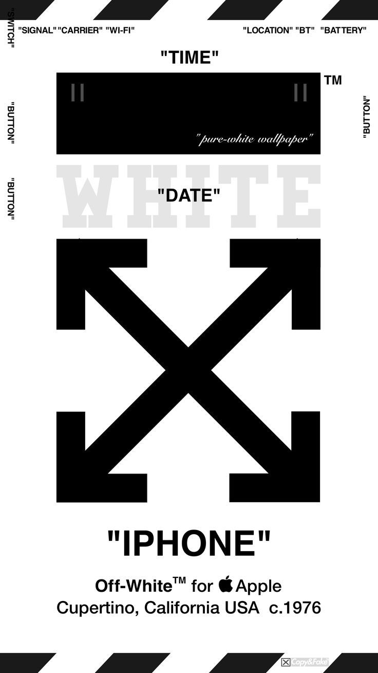 """OffWhite™ WALLPAPER IPHONE 壁紙 """"WHITEwh"""" iPhone"""