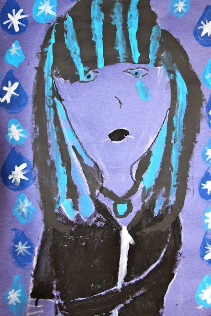 Picasso's Blue Rose | Oil pastel art, Elementary art ...