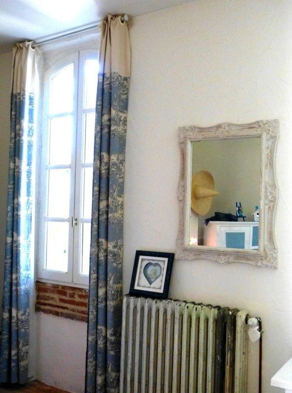 rideaux bleus en toile de jouy manu meli melo toile de jouy pinterest. Black Bedroom Furniture Sets. Home Design Ideas