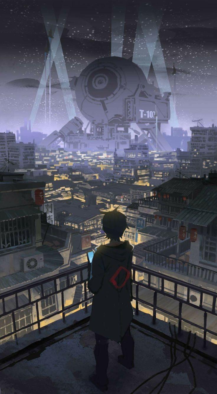The Biggest Club In Town Futuristic Art Anime City Cyberpunk City