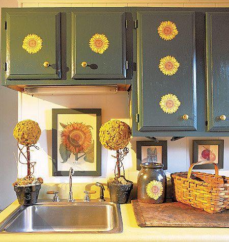 Sunflower Kitchen Decor Sunflowers Wallies 25 Decals Stickers For Walls Dishes Kitchen Decor Yellow Kitchen Decor Kitchen Decor Kitchen Dishes