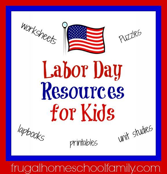 FREE or Cheap Labor Day Resources for Kids {worksheets, puzzles ...
