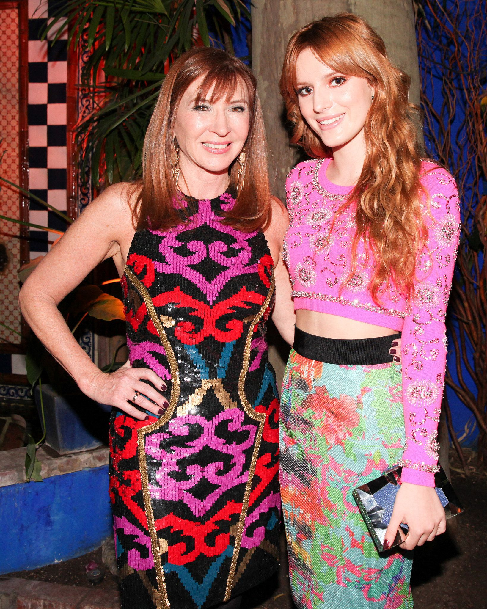 Nicole Miller and Bella Thorne at Nicole Miller\'s dinner party ...