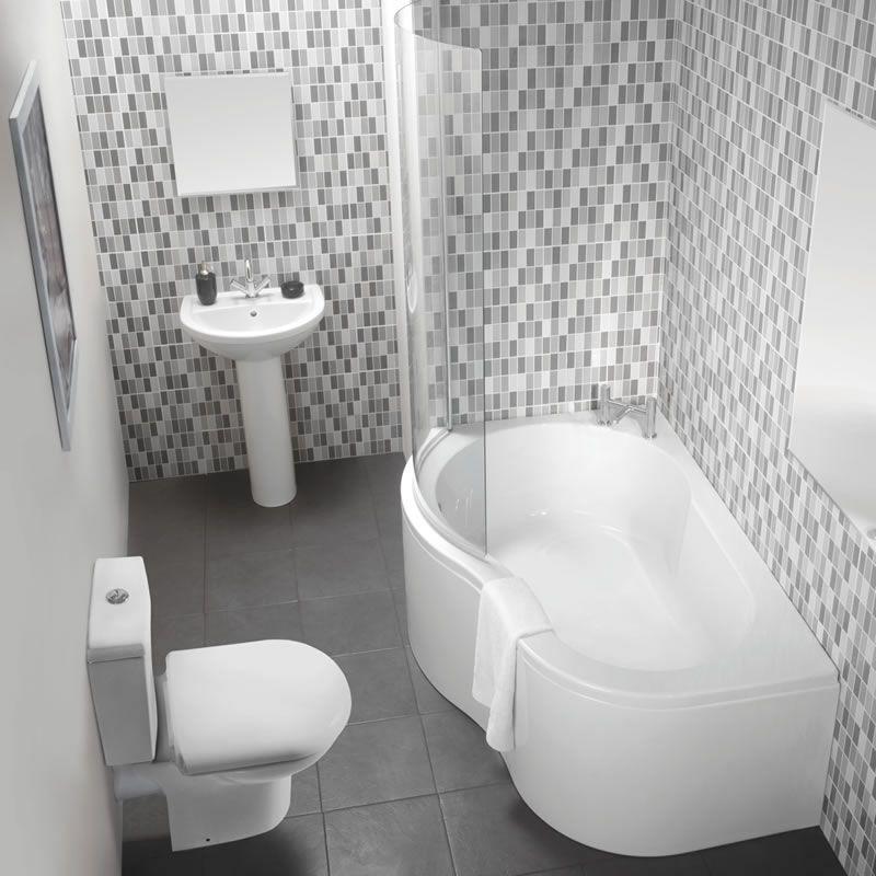 The Black Budget Bathroom Milano Milos Corner Bath Suite 499