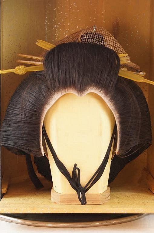 4f6ef15c5 Antique Geisha Wig | My Pretend Gallery in 2019 | Geisha, Japanese ...
