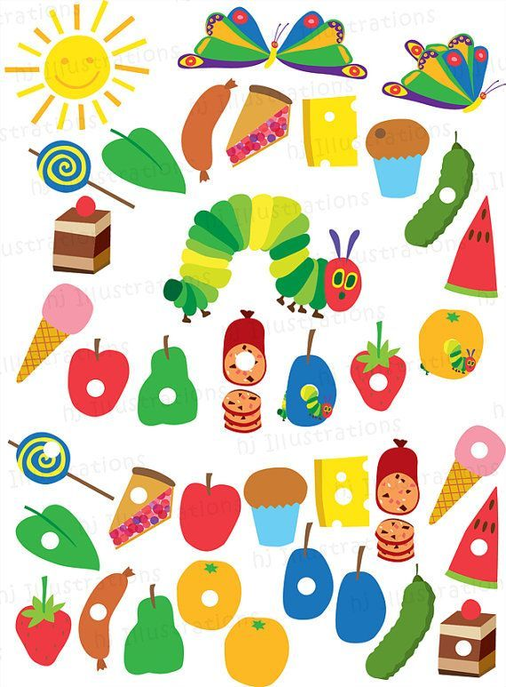Very Hungry Caterpillar Digital Clipart By Hjillustrations On Etsy Hungry Caterpillar Activities Hungry Caterpillar Hungry Caterpillar Invitations