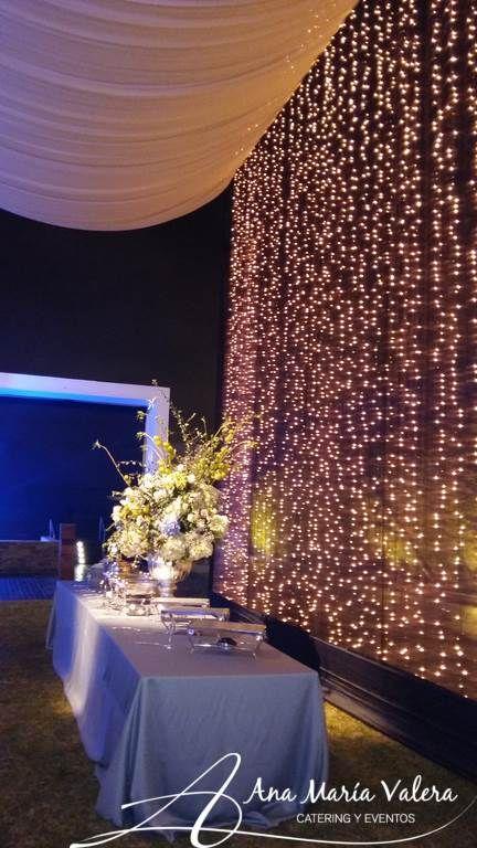 Pared De Luces Y Techo Bombe Diy Wedding Decoration Ideas