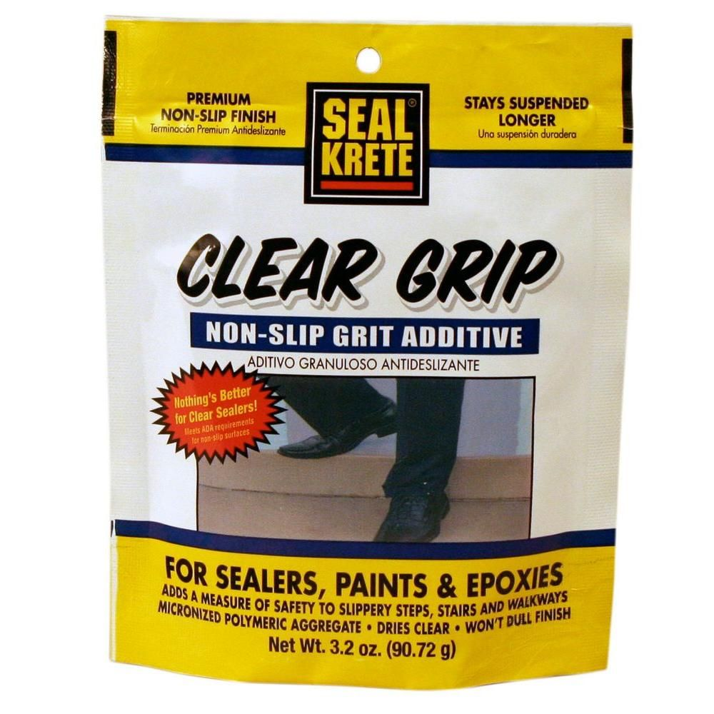 Seal Krete 3 2 Oz Clear Grip Anti Skid Additive In 2019