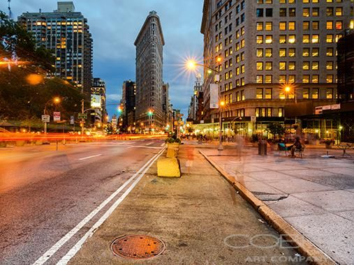 FLATIRON DUSK SHOT - Cities and Urban Art  Cobra Art Company Photographic art on plexiglas