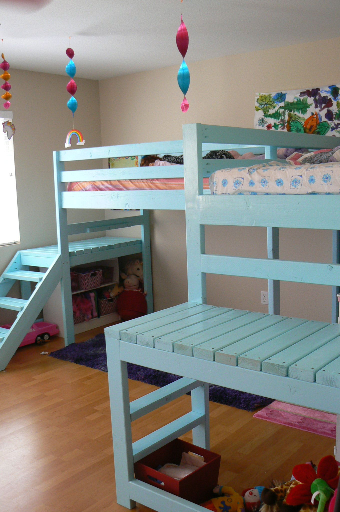 Two twin loft bed  Two Camp Loft BedsLOVE this design this is it Love the