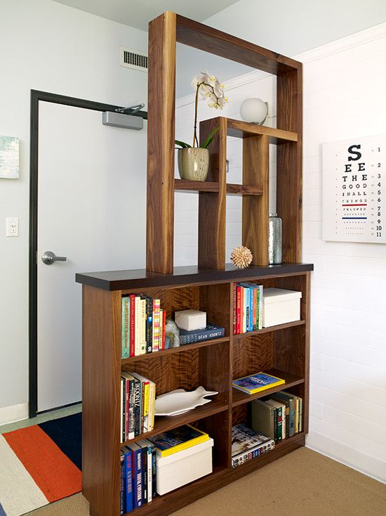 Contemporary Entry Entry Partition Bookshelf Room