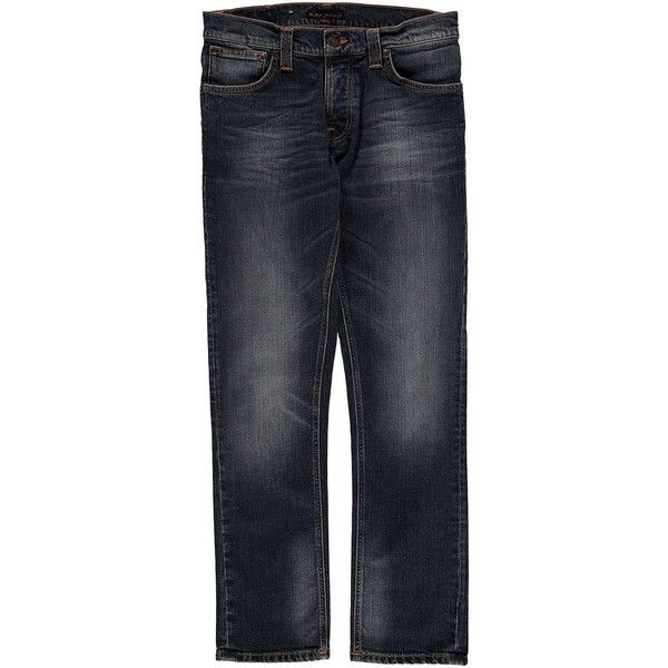 Nudie Jeans Nud Grimtim Twisted Sn 44 (125 NZD) ❤ liked on Polyvore featuring men's fashion and blue twisted