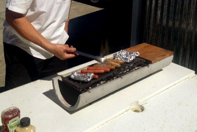 Outdoor Tabletop Hibachi | ShapeCrete