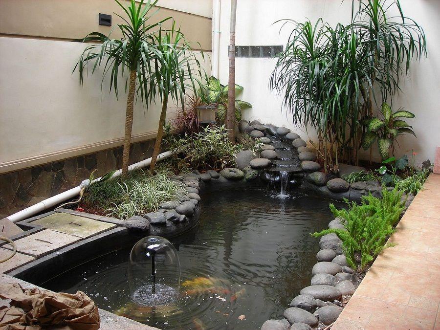 Inspirations Modern Indoor Fish Pond Design To Decoration ...