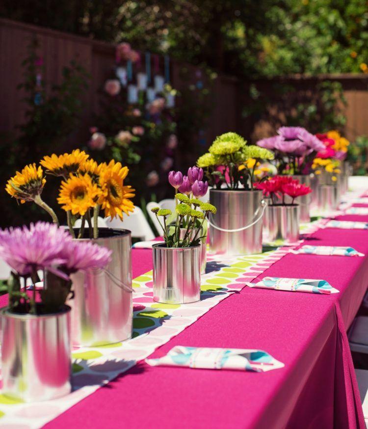 décoration de table été: table fête, mariage et anniversaire