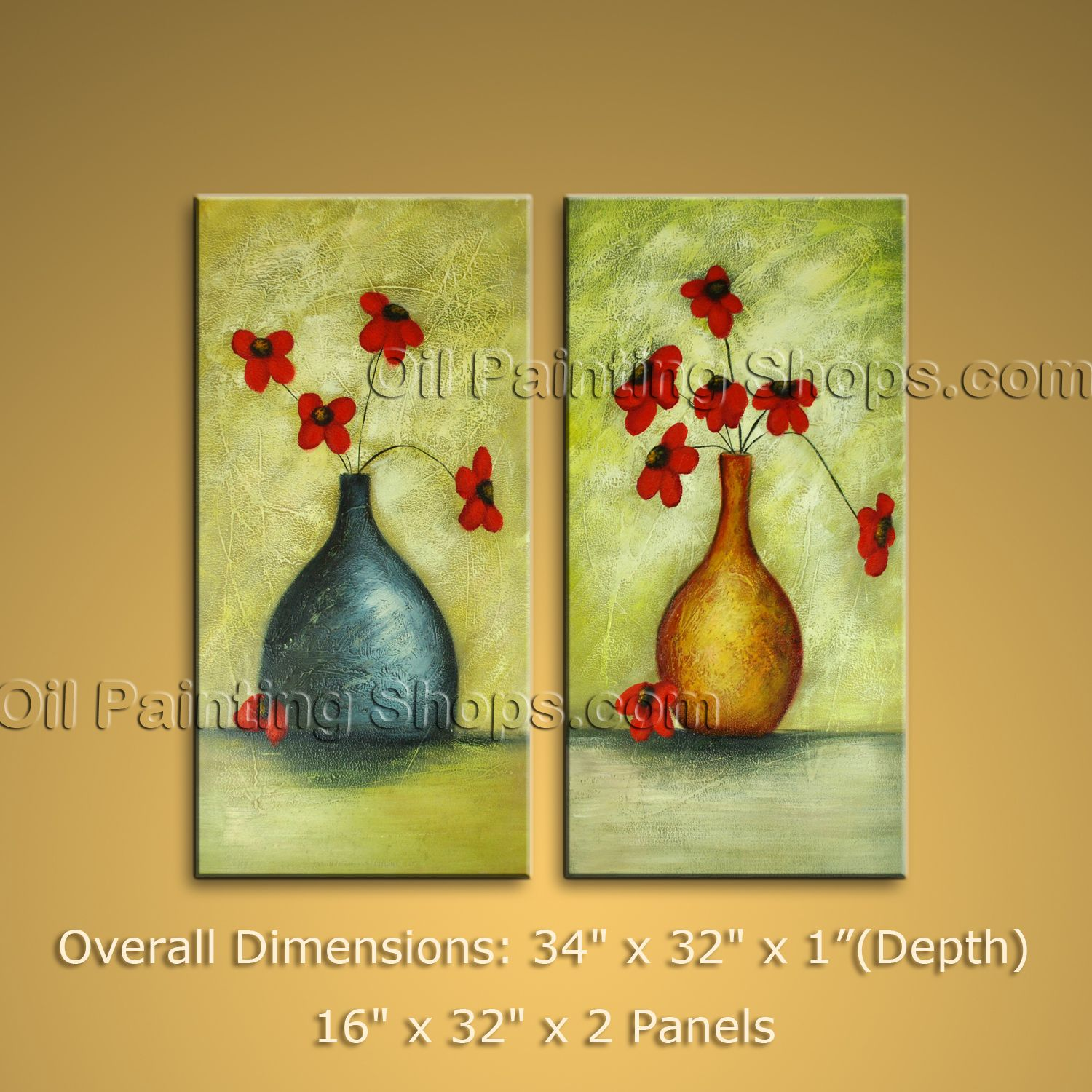 Large Oil Painting Abstract Flower Textured Art Modern Contemporary ...