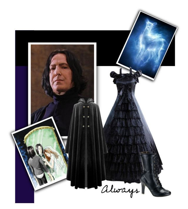 """""""Severus Snape"""" by slytherin-archangel ❤ liked on Polyvore featuring мода, Demonia, women's clothing, women's fashion, women, female, woman, misses и juniors"""