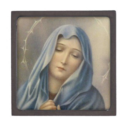 Sorrowful Virgin Mother Mary Rosary Jewelry Gift Box | Zazzle.com #rosaryjewelry