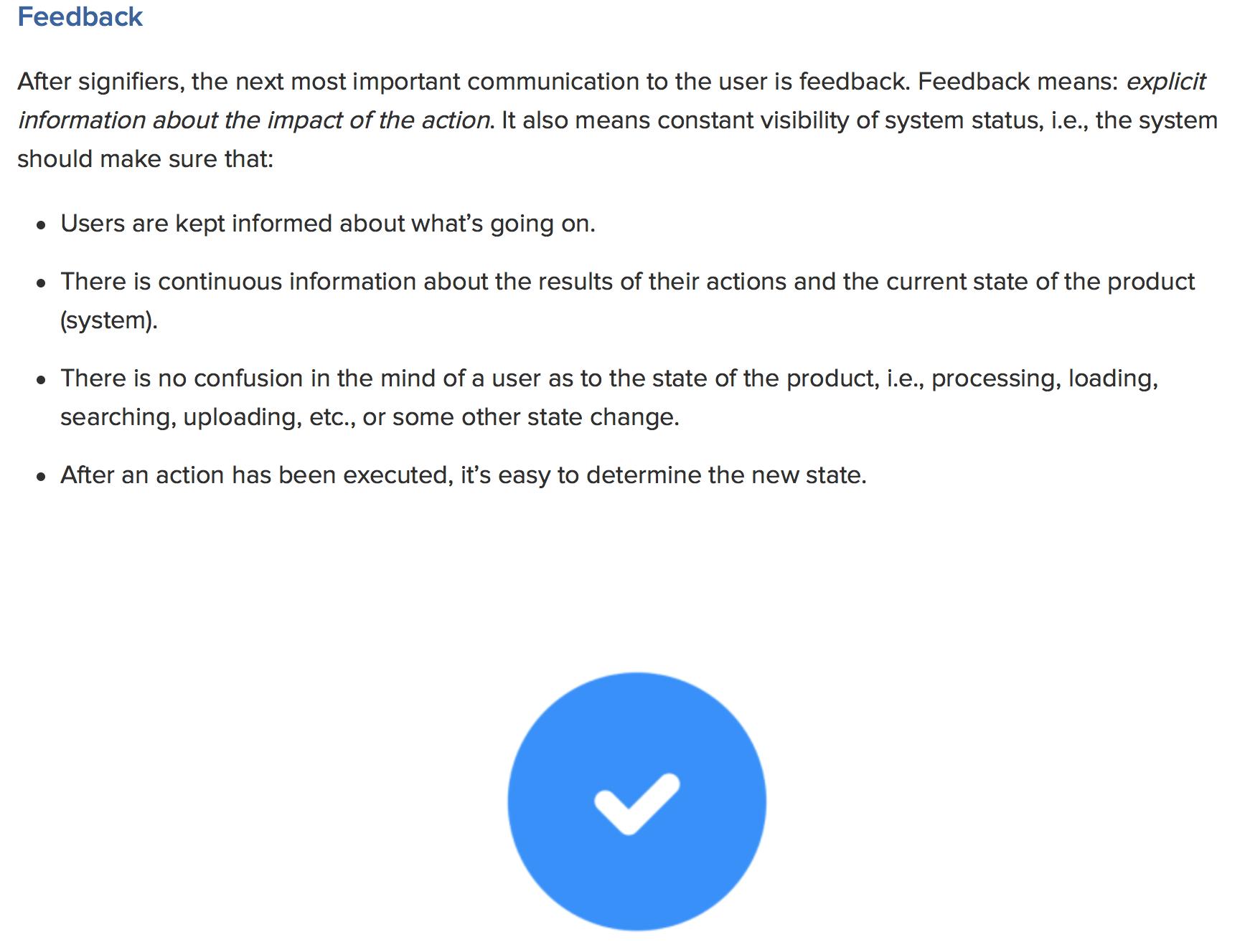 Interaction Feedback Interactive Design Interactive Principles