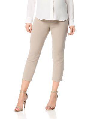 Motherhood Maternity Secret Fit Belly Bi-stretch Suiting Front Slash Pockets Maternity Crop Pants