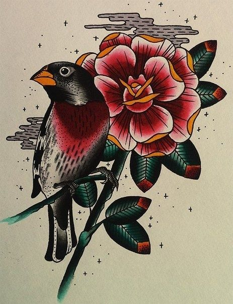 Awesome old school type tattoo design