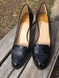 35445fda372 Cole Haan Nike Air Women s Penny Loafer Heels Shoes Size 9 B Patent Leather