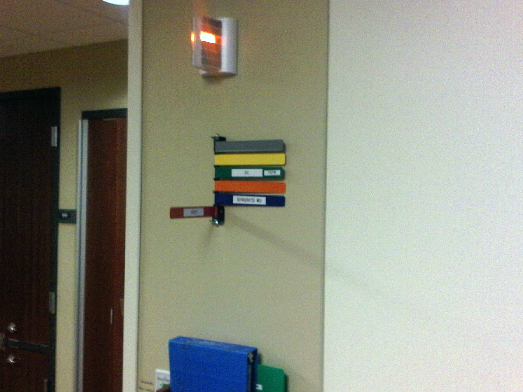 Great Example Of Visual Management Outside A Patients Room