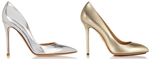 pumps silber gold bronze high heels mit glitzer. Black Bedroom Furniture Sets. Home Design Ideas
