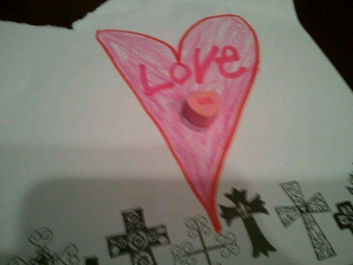 Marleigh's heart for mom