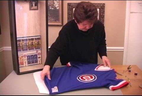 How To Frame A Sports Jersey Framed Jersey Shadow Box