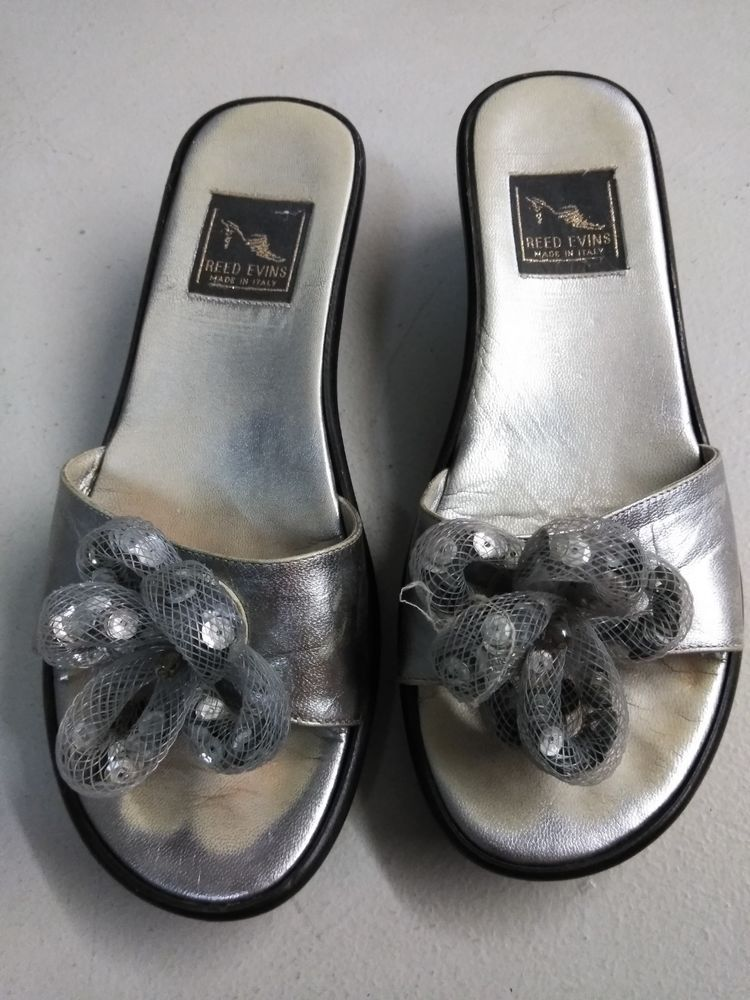 c034c8c1853577 Reed Evins Silver Wedges Size 6  fashion  clothing  shoes  accessories   womensshoes