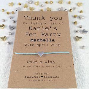Hen Party Wish Bracelet Friendship Band Charm Card Gift Keepsake Friend Bride Ebay