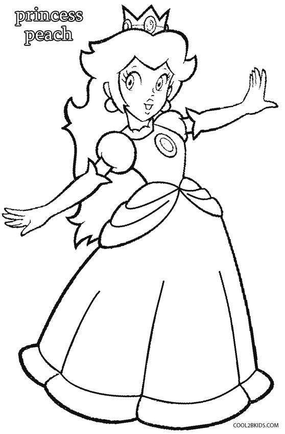 Printable Princess Peach Coloring Pages For Kids